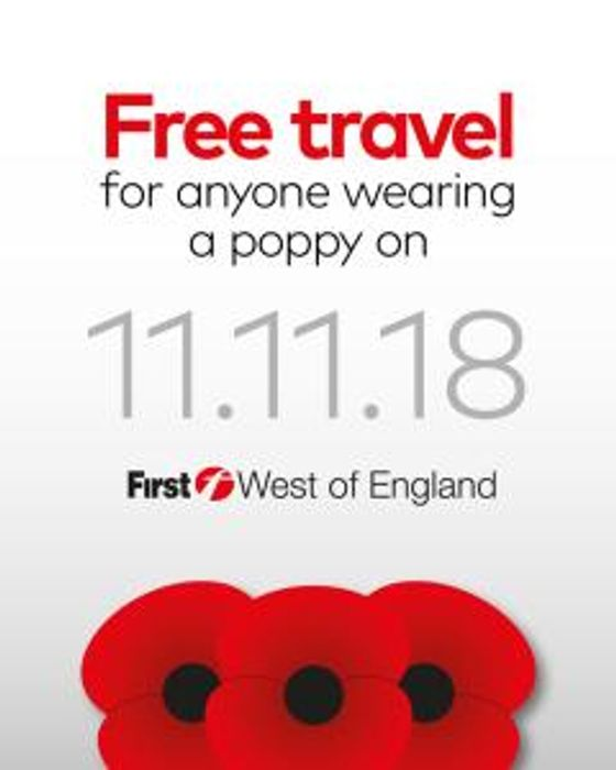 Free Travel If You Wear a Poppy on First Buses