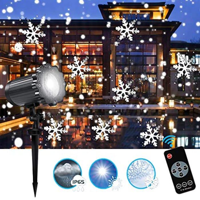 60 Off! Christmas Snowflake Projector Light