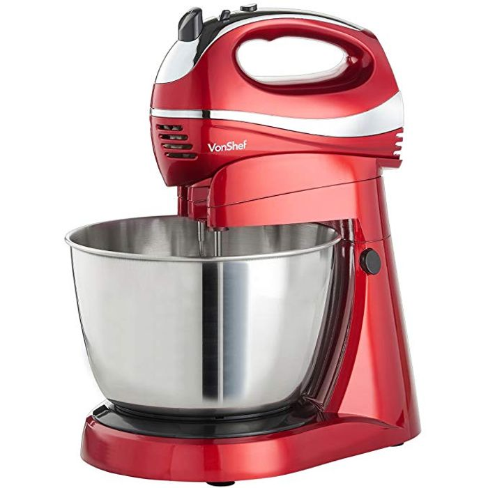 VonShef 2 in 1 Twin Hand and Stand Mixer,