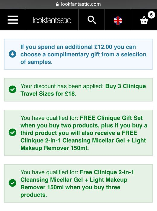 Clinique Offer Stack at Lookfantastic. Great for Stocking Fillers Deal