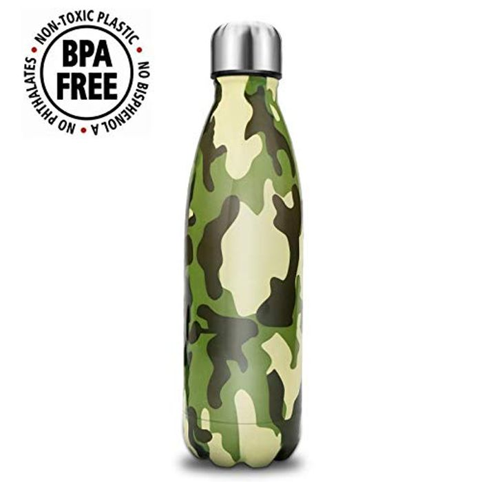 60%off- Double Wall Water Bottle - with Amazon Prime Delivery.