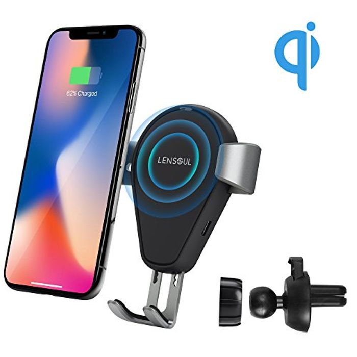 Wireless Car Charger Lensoul 10W QI Fast Wireless Phone Charger
