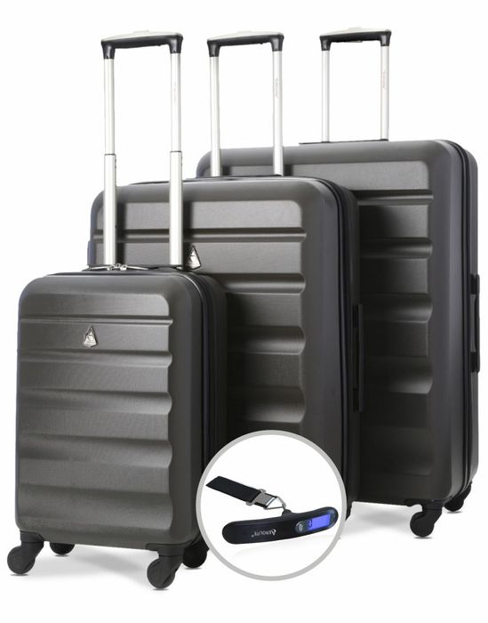 Aerolite ABS325 ABS Hard Shell Luggage Suitcase 3PC Set & Free Digital Scale