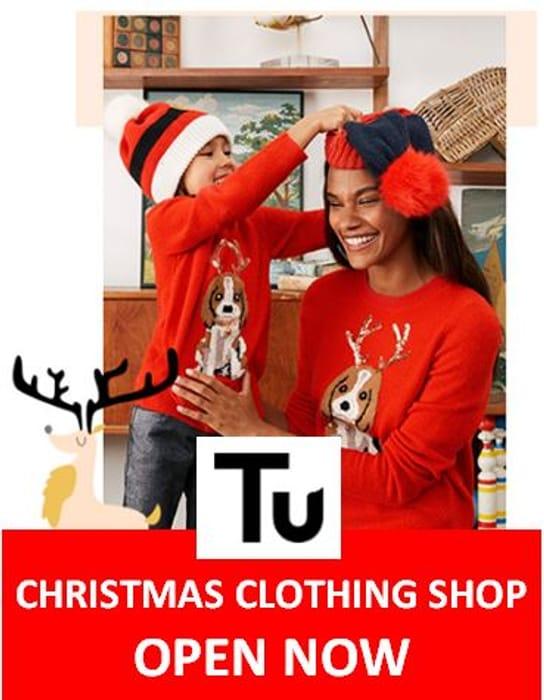 Sainsbury's TU Clothing - CHRISTMAS SHOP is NOW LIVE