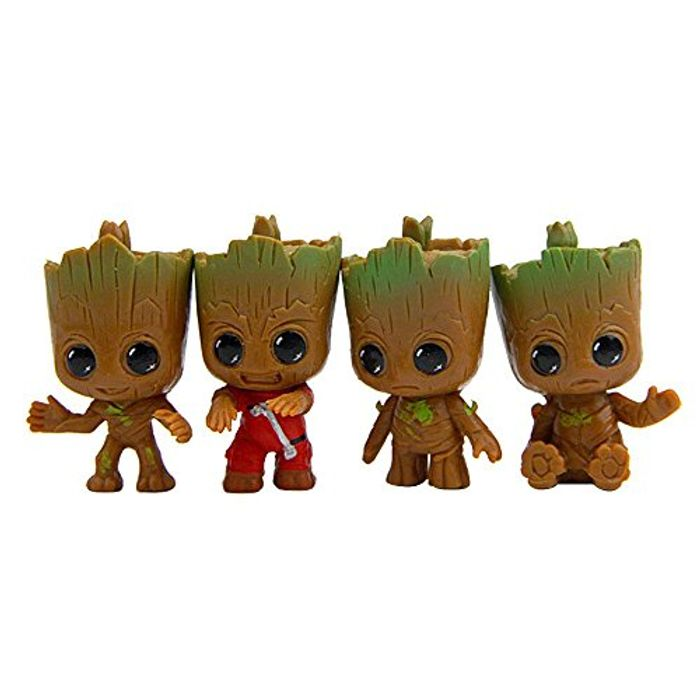 4Pcs Guardians of the Galaxy Groot Baby Key Rings FREE DELIVERY