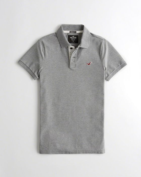 Hollister Stretch Muscle Fit Polo-Different Colours and Sizes