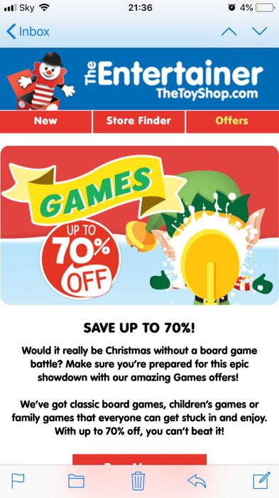 Upto 70% off Games