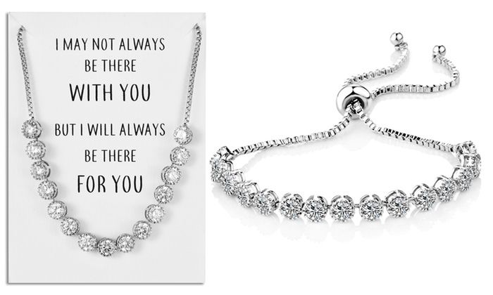 Philip Jones Crystal Friendship Bracelet with Quote Card