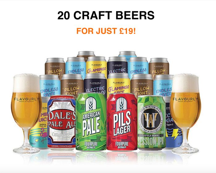 20 Craft Beers + 2 Glasses for Just £19 delivered!