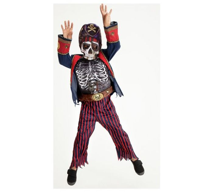 Halloween Pirate Skeleton Fancy Dress Costume - 3-4 Years Only £3.60