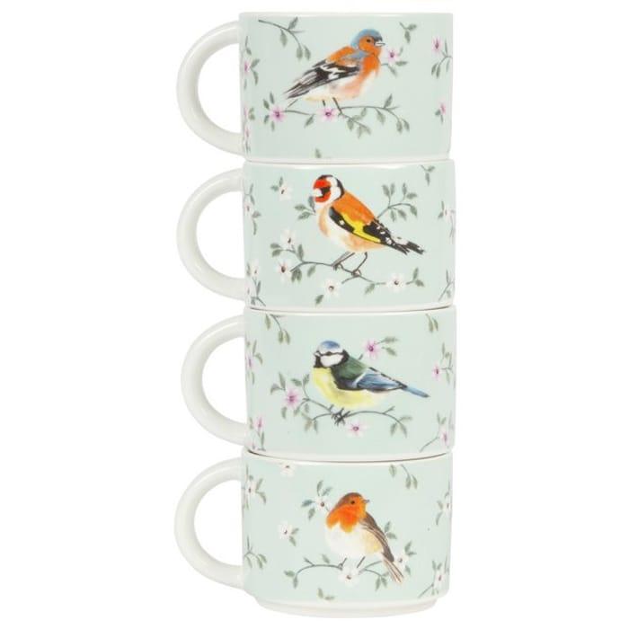 Sass & Belle Garden Birds Stackable Cups