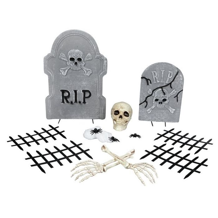 Halloween 14 Piece Cemetery Decoration Set