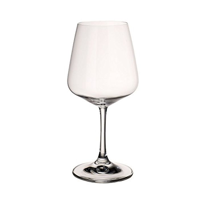Villeroy & Boch Ovid Red Wine Glasses, Set of 4, 590 Ml, Crystal Glass, Clear