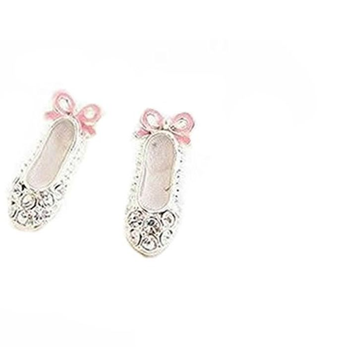 Cute Ballet Shoes Bowknot Stud Earrings FREE DELIVERY