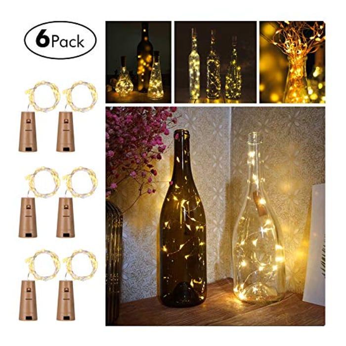 Wine Bottle Fairy Lights (6 Pack) Copper Wire ***4.7 STARS***