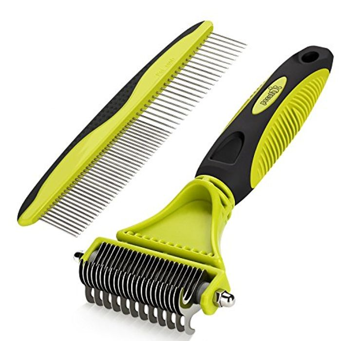 Pecute Grooming Dematting Comb Tool Kit - Double Sided