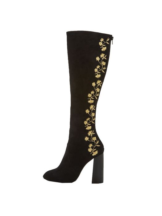 V by Very Vienna Embroidered Knee Boots Sizes 3,4,5,6,7,8