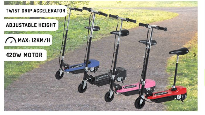120W Electric Foldable Scooter with Twist Grip Accelerator - 4 Colours from