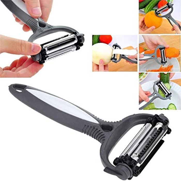 3 in 1Rotary Grater Fruit Vegetable Carrot Potato Peeler (Random Color)