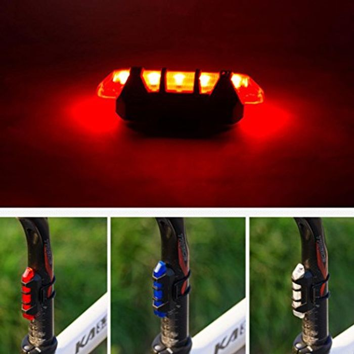 LED Bicycle Light USB Rechargeable Waterproof Front Rear Tail Warning Flash Lamp