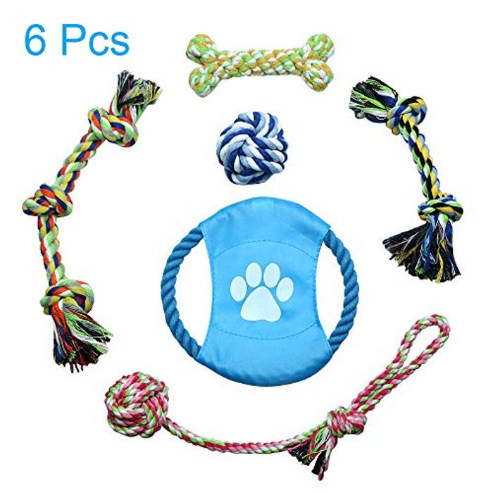 Jhua Dog Rope Toy 6 Pcs Pet Chew Toys Set for Small, Medium Dogs, Cats