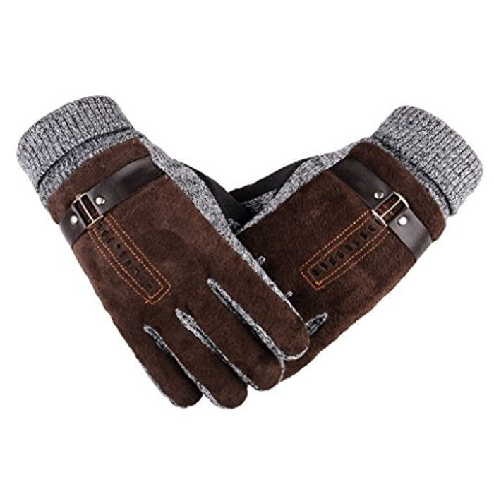 Heekpek® Men's Winter Gloves Thick Warm Fleece Windproof Gloves