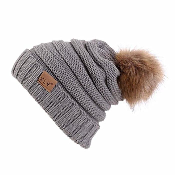 Winter Bonnet with Pompoms