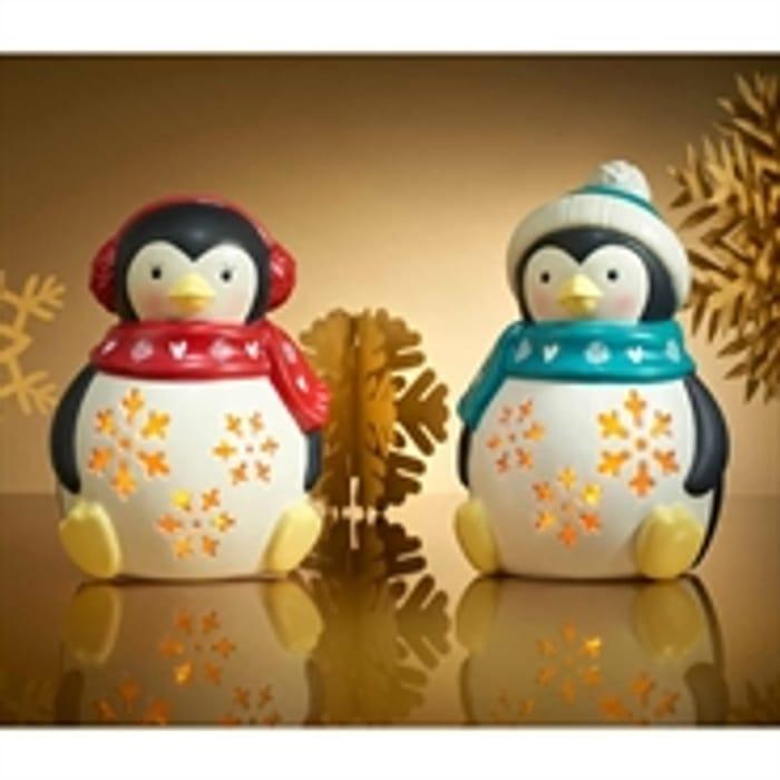 Buy 2 Ceramic Light-up Penguins for £8