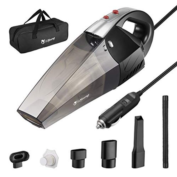 50% off isYoung Car Vacuum Cleaner with LED Light