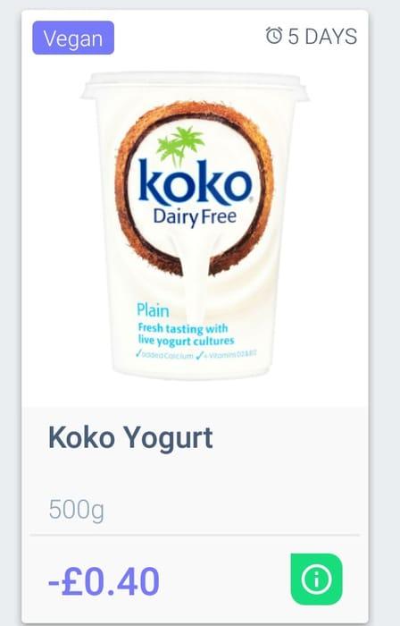 Koko Vegan Yogurt Dairy Free