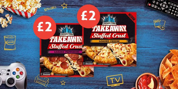 Chicago Town Takeaway Stuffed Crust Pizza Available in Store Now for Just £2