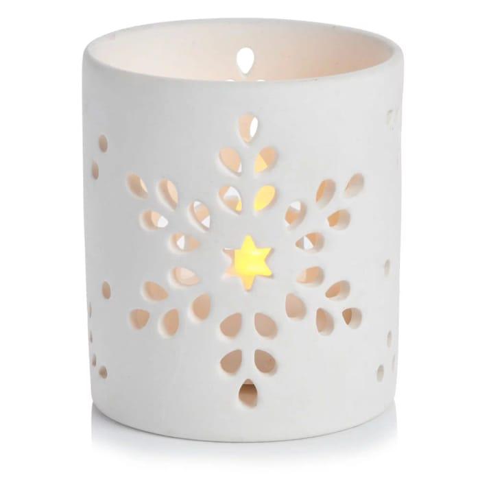Christmas Winter Wonder Ceramic Tealight Holder
