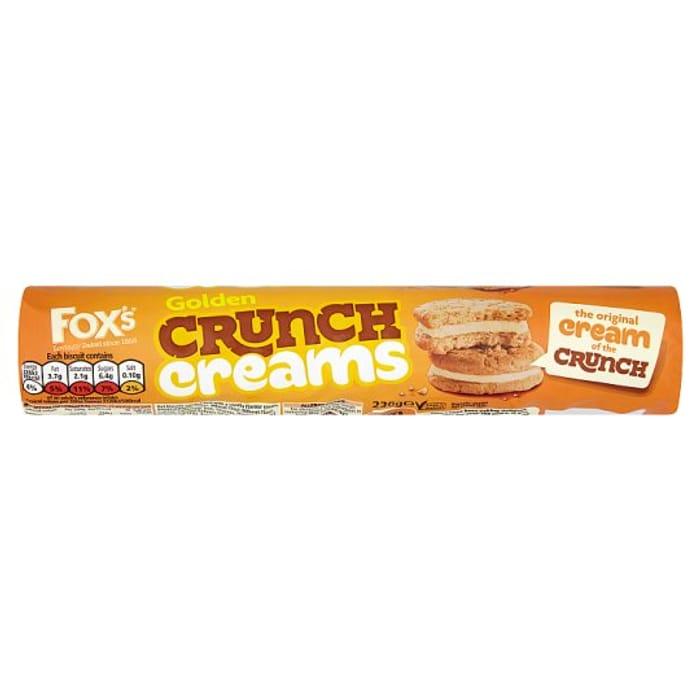 HALF PRICE Fox's Golden Crunch Creams Biscuits 230G
