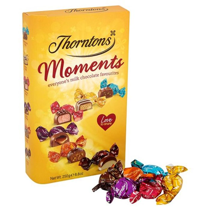 Thorntons Moments Chocolates Carton 250G