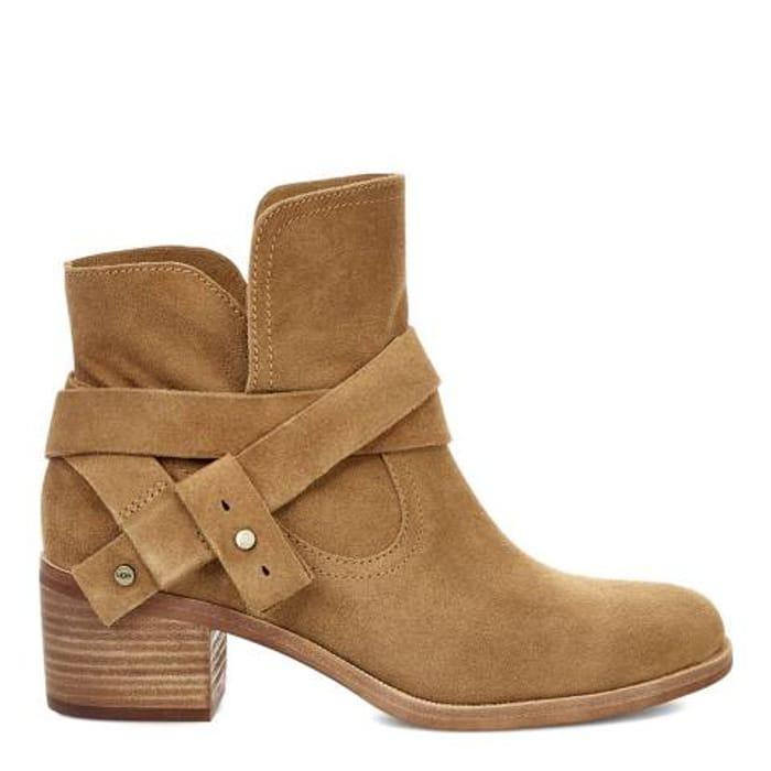 UGG Chestnut Suede Elora Ankle Boots