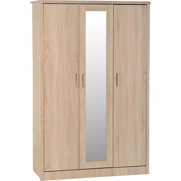 Lisbon 3 Door Wardrobe Oak Effect