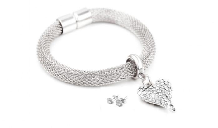 Free Swarovski Artemis Heart Bracelet & Earring Set