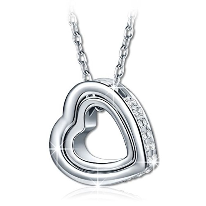 """""""Love You Forever"""" Crystal Heart Necklace save £15"""