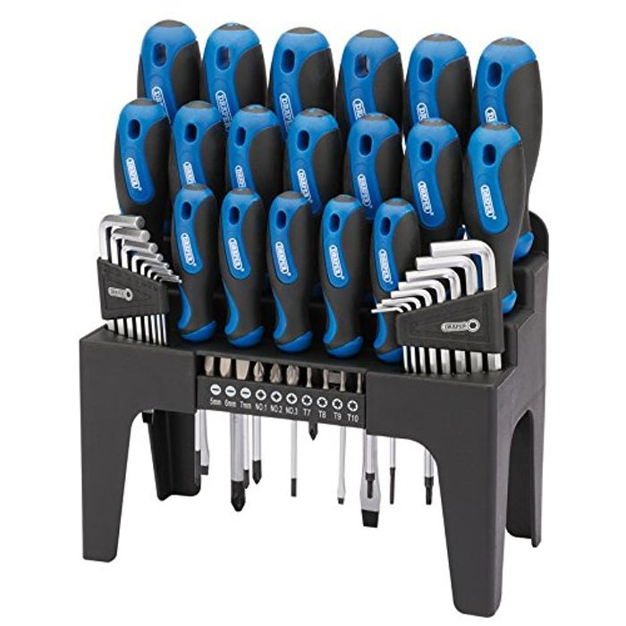 44PC S.Driver Set+Stand Blue