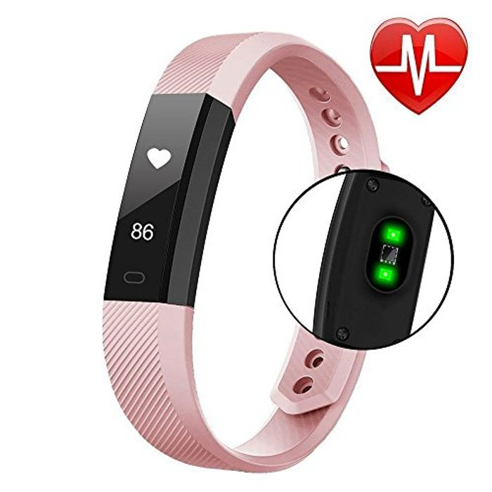 Pink Fitness Tracker (53% Off)