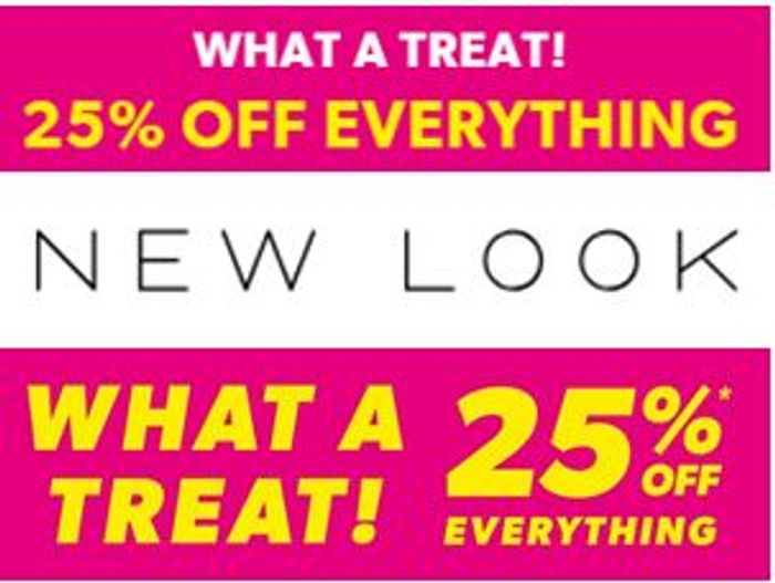 NEW LOOK. 25% off Everything - Including Already Reduced Clothing