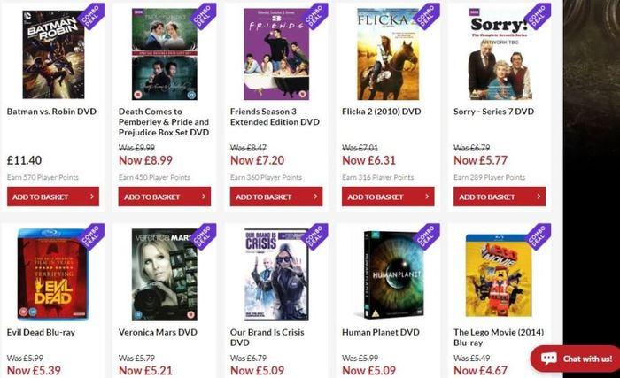Any 10 Blu-Ray & DVD for £10 Delivered