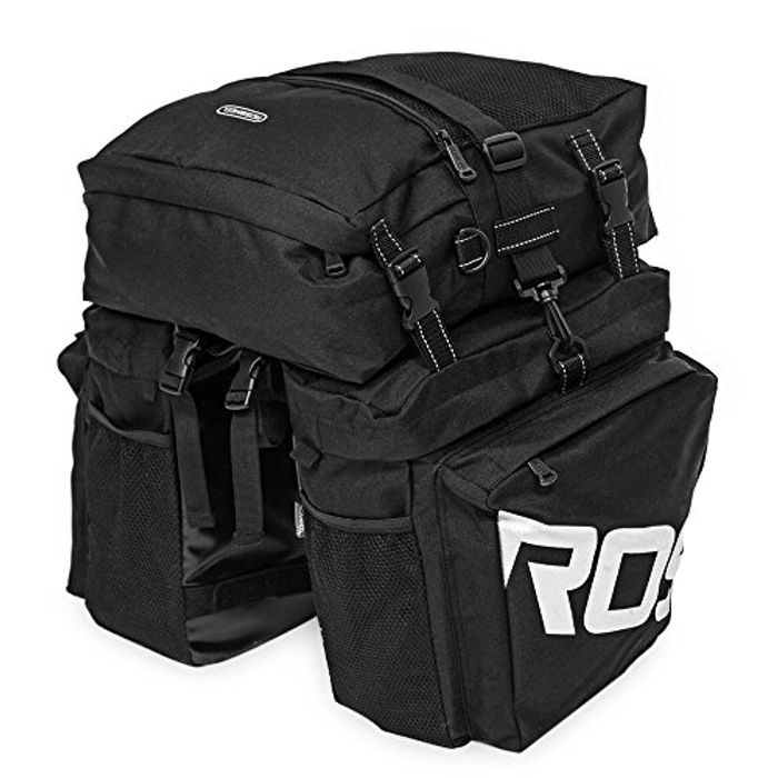 37L Water Resistant Durable 3 in 1 Bicycle Rear Pannier Bag