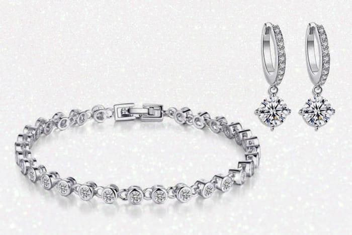 Swarovski Crystal Bracelet & Earrings