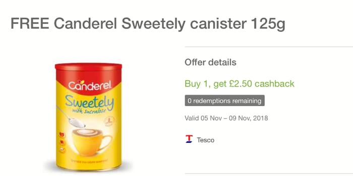 Better than Free Candarel at Tesco