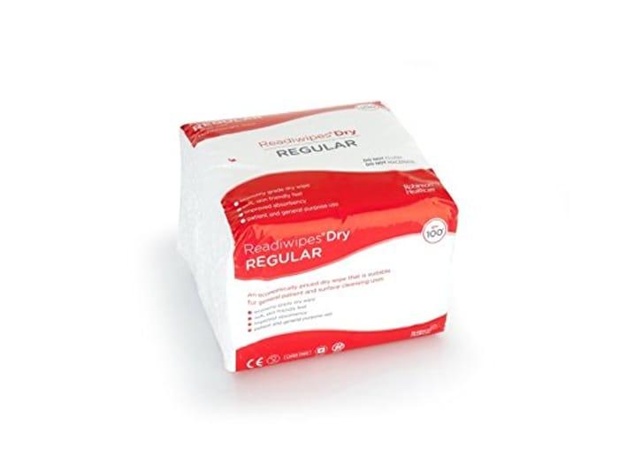 Readiwipes Dry - Regular, Large Size, Lightweight Wipe (Pack of 100)