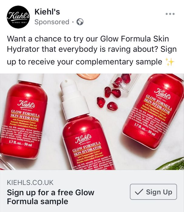 Sign up for a Free Glow Formula Sample