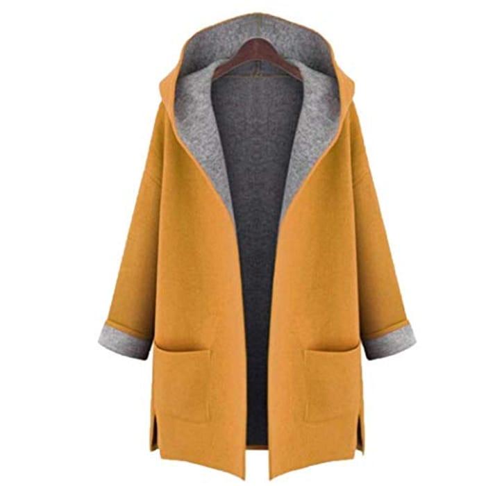 Medium Long Large Size Loose Front Open Coat Coats