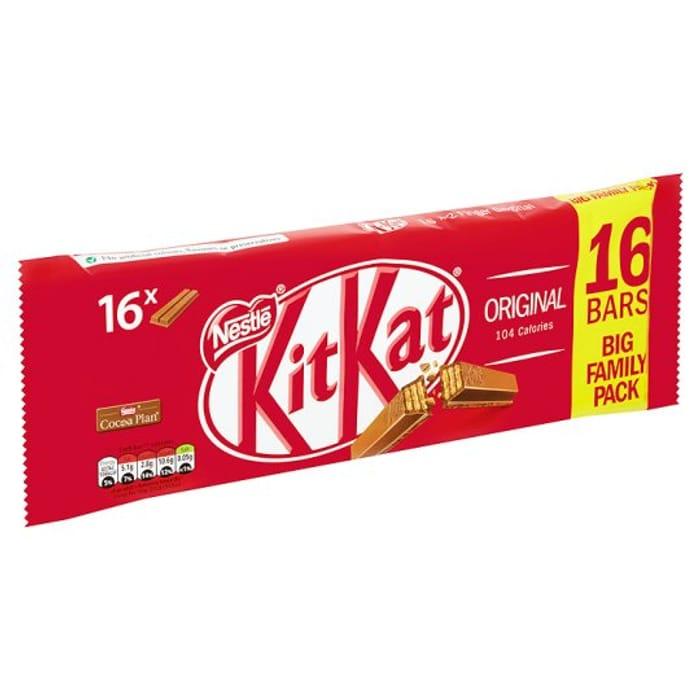 Kit Kat 2 Finger Milk Chocolate Biscuits 16 X 20.7G