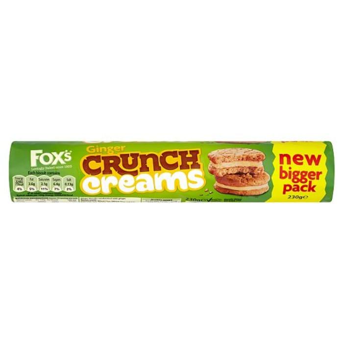 HALF PRICE Fox's Ginger Crunch Creams Biscuits 230G